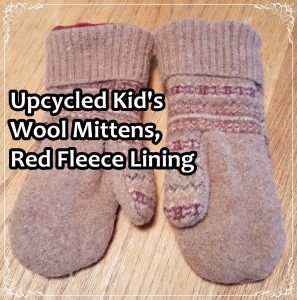 upcycled-kids-wool-mittems-red-fleece-lining