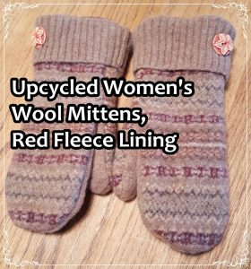 upcycled-womens-wool-mittens-red-fleece-lining