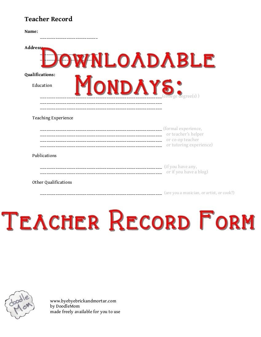 Curriculum Downloads   DoodleMom
