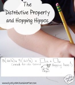 The Distributive Property and Hopping Hippos | DoodleMom's
