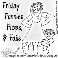 Grab button for Friday Funnies, Flops, and Fails Link Up