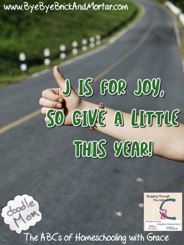 J is for Joy, so give a little this year!
