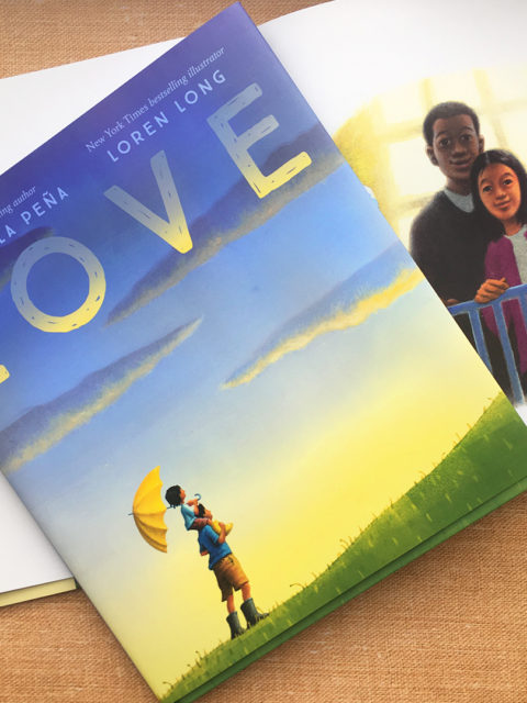 Moms & Kids Sharing Love | An activity & a review of Love by Matt de la Pena 1