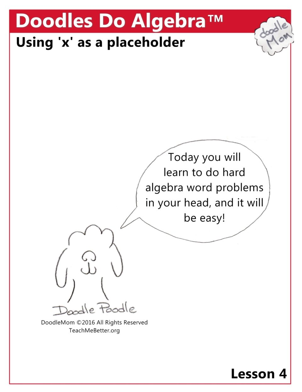 First 10 Lessons in Doodles Do Algebra Available NOW! | DoodleMom's