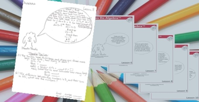 First 10 Lessons in Doodles Do Algebra Available NOW! 3